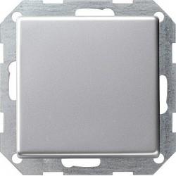 Łącznik przyciskowy przełączalny Gira E22 aluminium