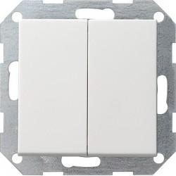 Łącznik przyciskowy świecznikowy Gira E22 biały