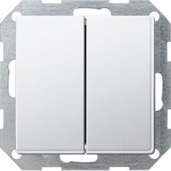 Łącznik przyciskowy przeł./przeł. Gira E22 aluminium