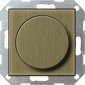 Ściemniacz uniwersalny (wł. przycisk.) 50-420W brąz System 55 GIRA