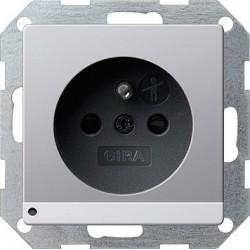Gniazdo z bolcem podś LED z ochr.dz Gira E22 kolor aluminium
