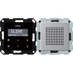 Radio pt. RDS Gira E22 aluminium