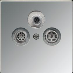 Gniazdo telewizyjne RTV SAT, aluminium JUNG LS