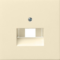 Gniazdo internetowe kat.5 ekran. podwójne kremowe F100 GIRA