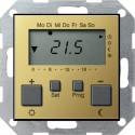 Regulator temperatury pokojowy 230V z zegarem mosiądz System 55 GIRA
