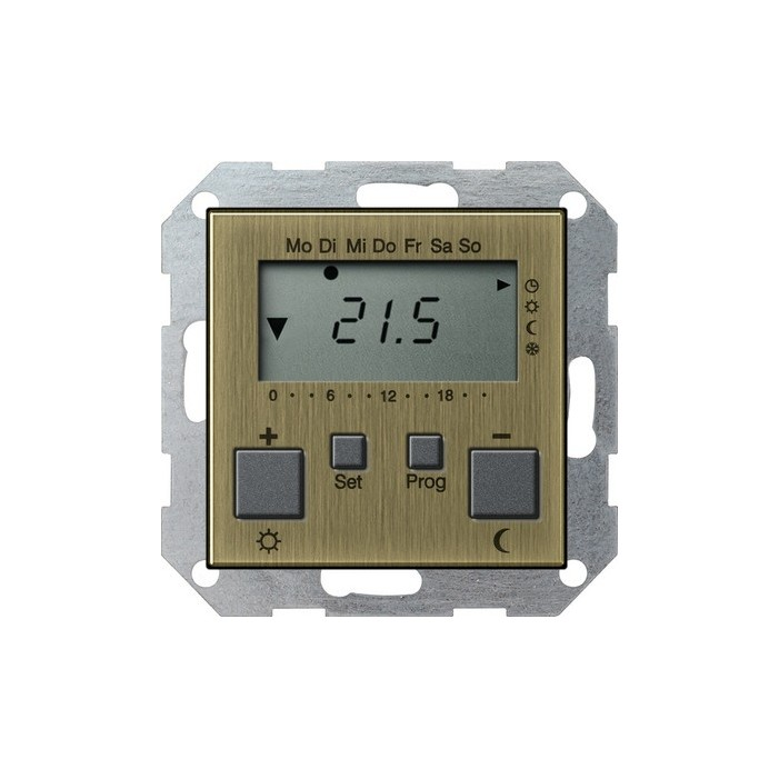 Regulator temperatury pokojowy 230V z zegarem brąz System 55 GIRA