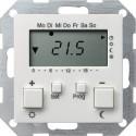 Regulator temperatury pokojowy 230V z zegarem biały matowy System 55 GIRA
