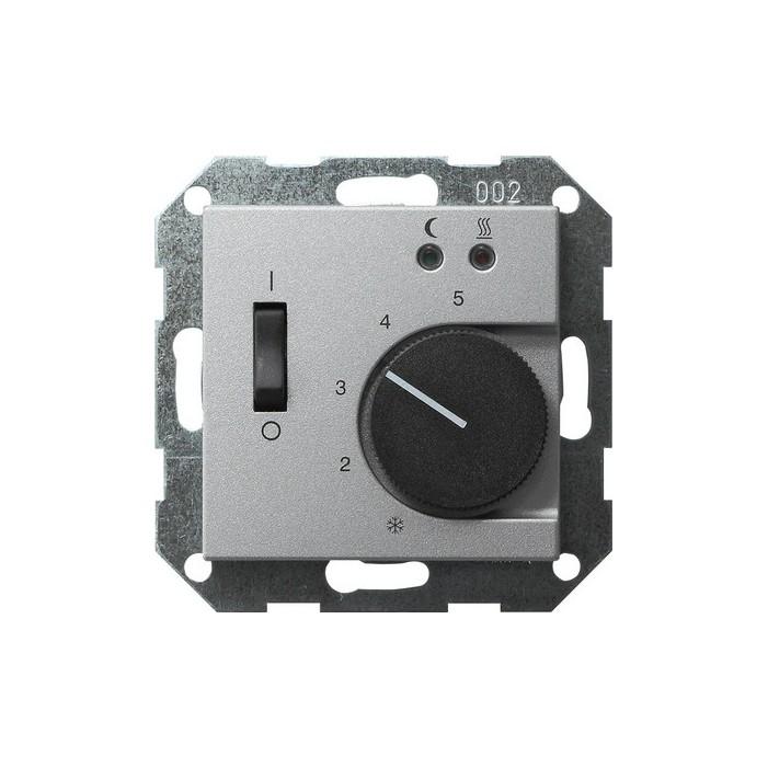 Regulator temperatury pokojowy 230V z sondą aluminiowy System 55 GIRA