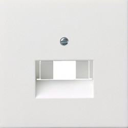 Gniazdo internetowe kat.5 ekran. podwójne białe F100 GIRA