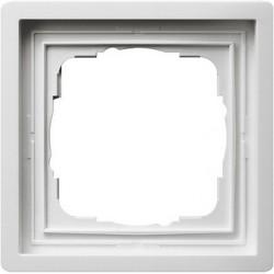Ramka pojedyncza Gira F100 biały