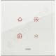 Eikon Tactil - Płytka dotykowa 4-krotna Szklana biała