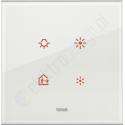 Eikon Tactil - Płytka dotykowa 2-krotna Szklana biała