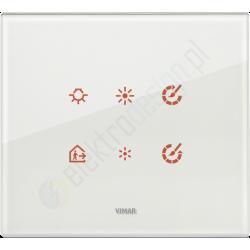 Eikon Tactil - Płytka dotykowa 6-krotna Szklana biała