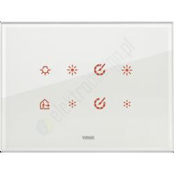 Eikon Tactil - Płytka dotykowa 8-krotna Szklana biała
