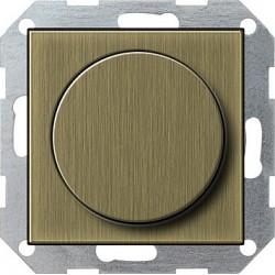 Ściemniacz do lamp żarowych (wł. przycisk.) 60-600W brąz System 55 GIRA
