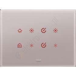 Eikon Tactil - Płytka dotykowa 8-krotna Pearl Grey