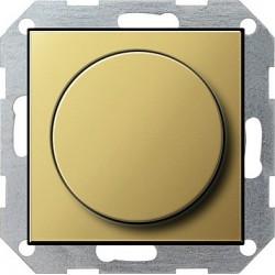 Ściemniacz do lamp żarowych (wł. przycisk.) 60-600W mosiądz System 55 GIRA