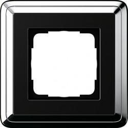 Ramka pojedyncza GIRA ClassiX chrom czarny