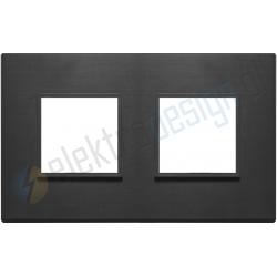 Ramka ozdobna 4M (2+2) 71mm total black VIMAR EIKON EVO