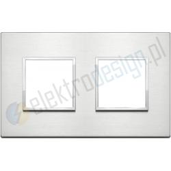 Ramka ozdobna 4M (2+2) 71mm brilliant aluminium VIMAR EIKON EVO