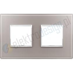 Ramka ozdobna 4M (2+2) 71mm pearl grey VIMAR EIKON EVO