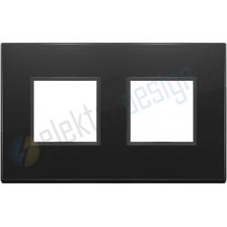 Ramka ozdobna 4M (2+2) 71mm total black diamond VIMAR EIKON EVO