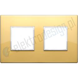 Ramka ozdobna 4M (2+2) 71mm polished gold VIMAR EIKON EVO