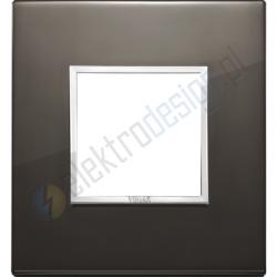 Ramka ozdobna 2M aluminium black sapphire VIMAR EIKON EVO
