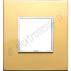 Ramka ozdobna 2M aluminium polished gold VIMAR EIKON EVO