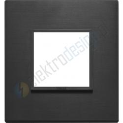 Ramka ozdobna 2M aluminium total black VIMAR EIKON EVO