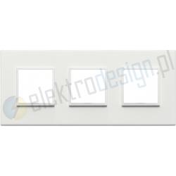 Ramka ozdobna 6M (2+2+2) 71mm total white VIMAR EIKON EVO