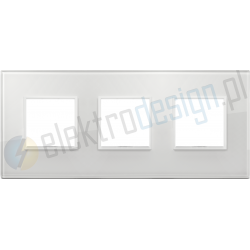 Ramka ozdobna 6M (2+2+2) 71mm total white diamond VIMAR EIKON EVO