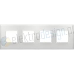 Ramka ozdobna 8M (2+2+2+2) 71mm total white diamond VIMAR EIKON EVO