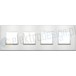 Ramka ozdobna 8M (2+2+2+2) 71mm brilliant alumin VIMAR EIKON EVO