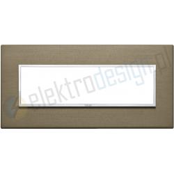 Ramka ozdobna 7M aluminium dark bronze VIMAR EIKON EVO