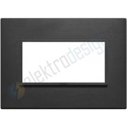 Ramka ozdobna 4M aluminium total black VIMAR EIKON EVO