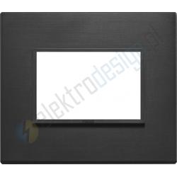 Ramka ozdobna 3M aluminium total black VIMAR EIKON EVO