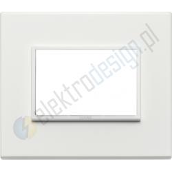 Ramka ozdobna 3M aluminium total white VIMAR EIKON EVO