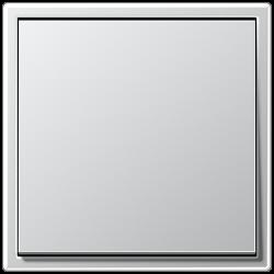 Włącznik uniwersalny pojedynczy, aluminiowy, JUNG LS Aluminium KOMPLET