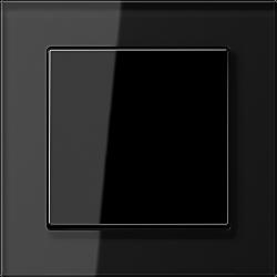 Włącznik uniwersalny pojedynczy, czarny połysk, JUNG A-creation KOMPLET
