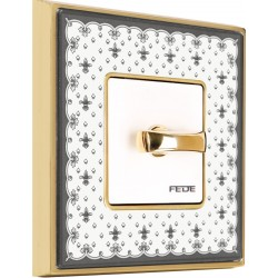 FEDE VINTAGE PORCELAIN BLACK Bright Gold