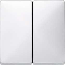 Włącznik podwójny zwierny, biały, Antique/Artec