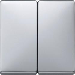 Włącznik podwójny świecznikowy, aluminium, Artec