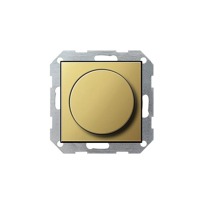 Ściemniacz do lamp żarowych (wł. przycisk.) 100-1000W mosiądz System 55 GIRA