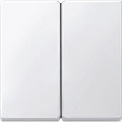 Włącznik podwójny zwierny, biały, System M
