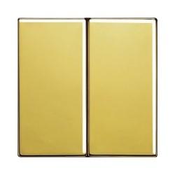 Włącznik podwójny (seryjny) złoty, JUNG LS Złoto 24 karaty