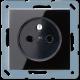 Gniazdko czarne Jung Acreation A520FSW