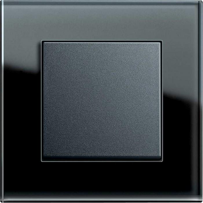 Gira Esprit Szkło czarny uniwersalny - KOMPLET