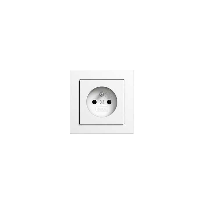 Gira E2 - gniazdko z uzieimieniem biały matowy - komplet