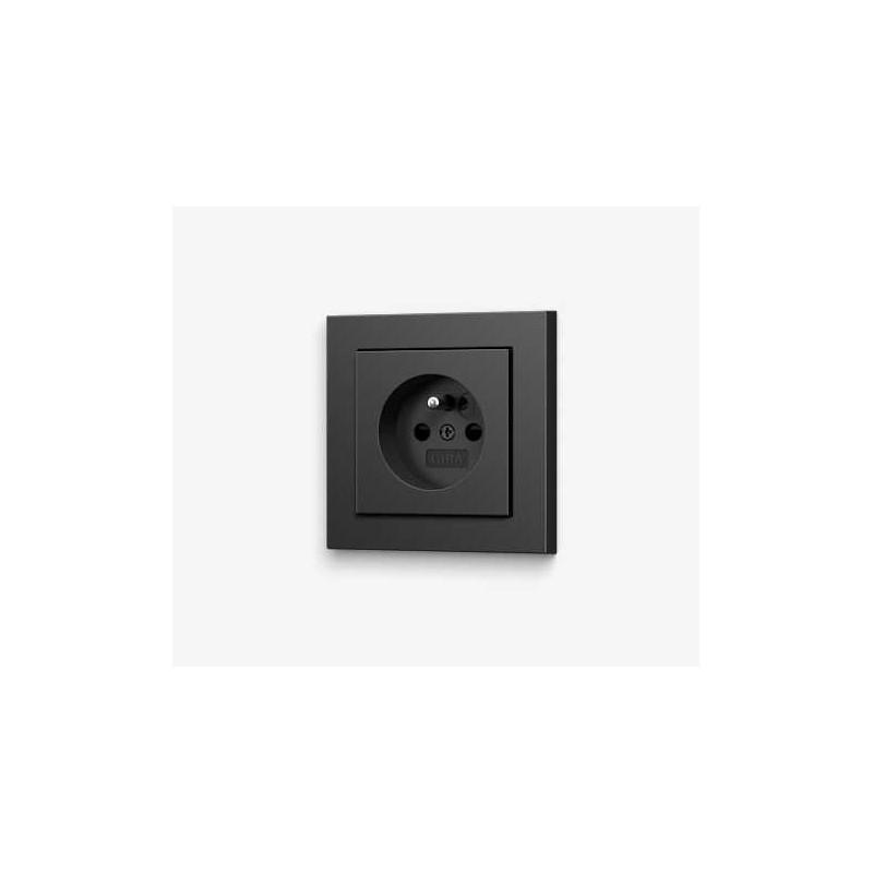 gira e2 gniazdko z uziemieniem antracyt komplet. Black Bedroom Furniture Sets. Home Design Ideas